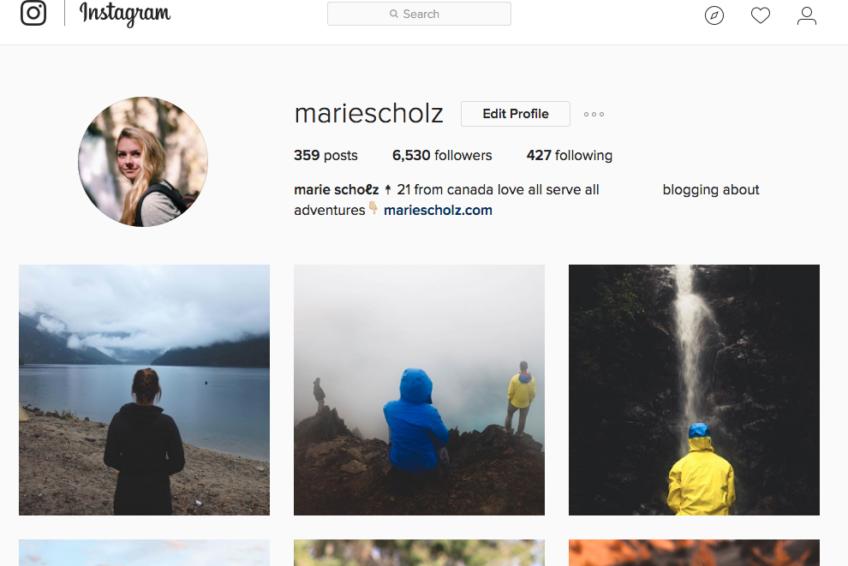 marie scholz instagram