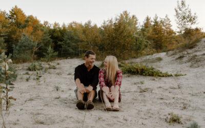 Wasaga Beach Sand Dune Engagement // Meghan + Liam