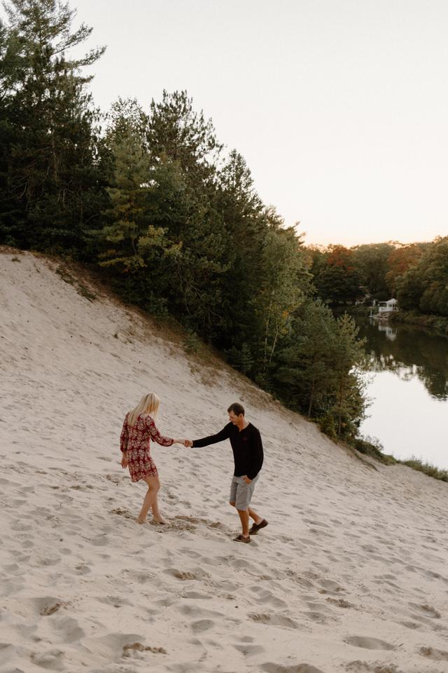 wasaga beach sand dune engagement