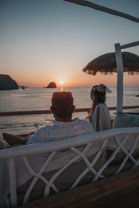 best sunset spot in greece
