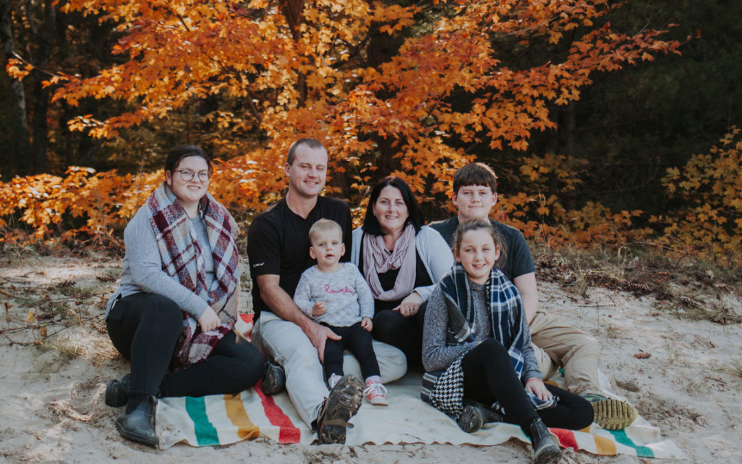 Wasaga Beach Fall Family Session