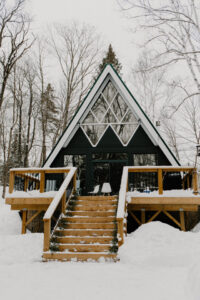 wedding at muskoka a-frame cottage