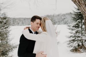 muskoka a-frame cottage wedding