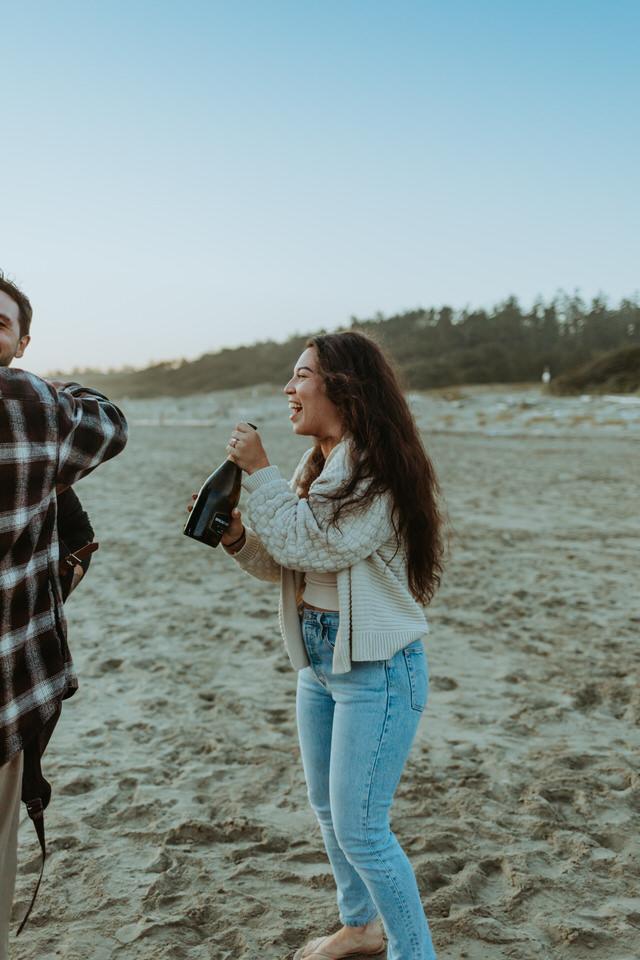 Surprise Proposal in Tofino British Columbia