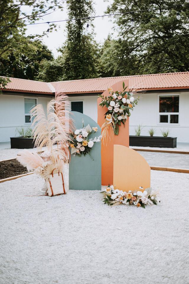 Vintage Styled Wedding at Retro 1970's Motel